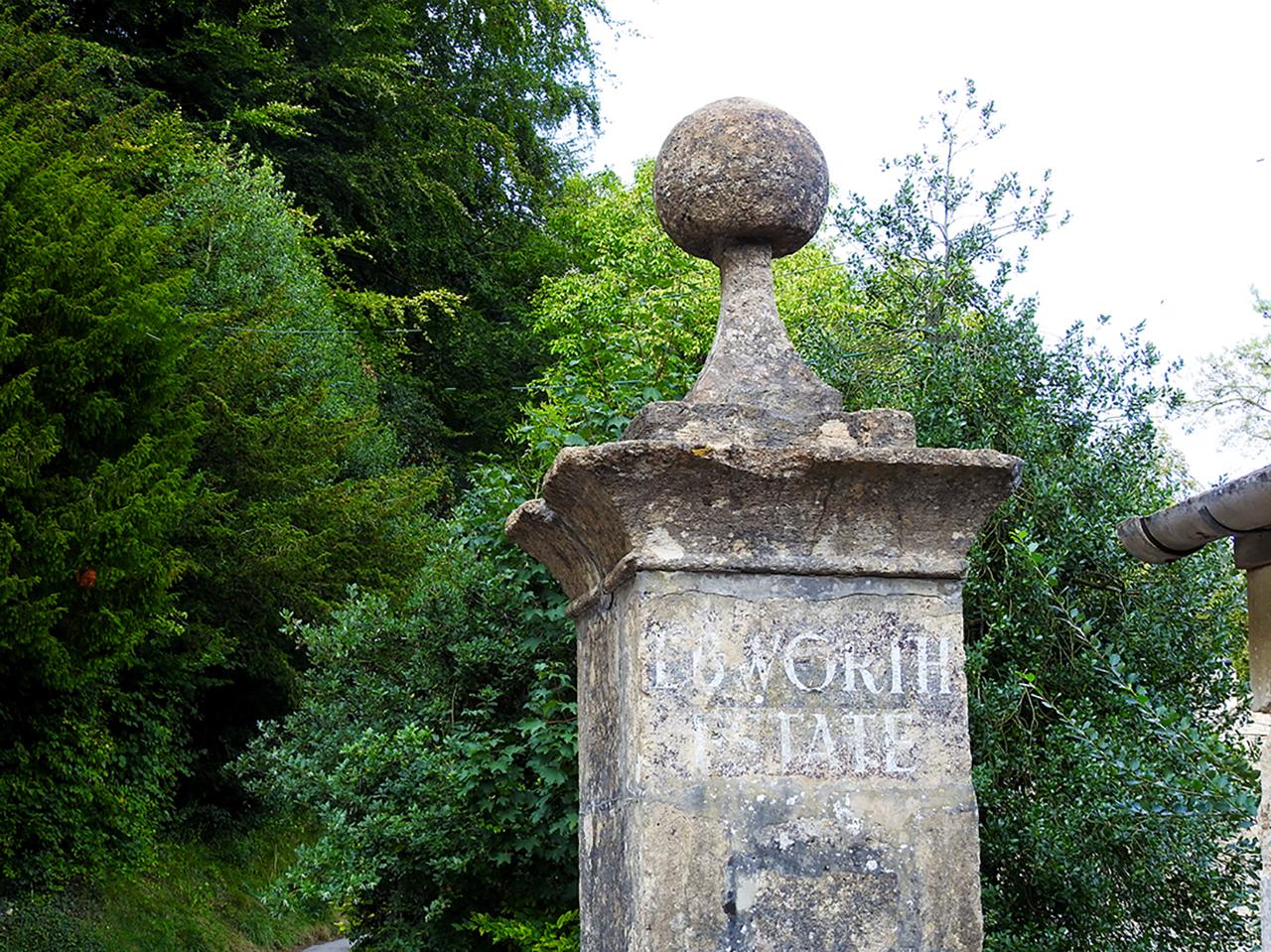 Ebworth Estate entrance pillar